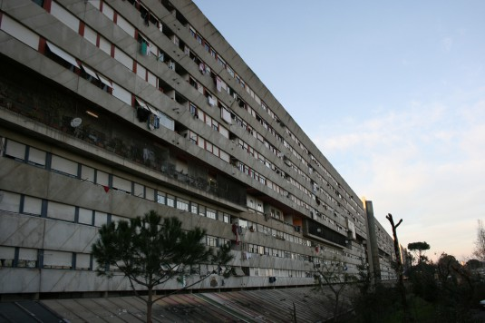 "A sad example of ideological, not evidence-based, design is the Corviale social housing complex in Rome, built 1975-1982 by architect Mario Fiorentino with others. In the face of massive evidence of its damage to human lives, defenders insisted the project was sound, but ""just wasn't implemented correctly"". Image: G. Parise, courtesy of Ateneo Federato Spazio e Società"