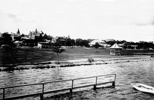 The Esplanade Reserve when it was completed in the 1890s.