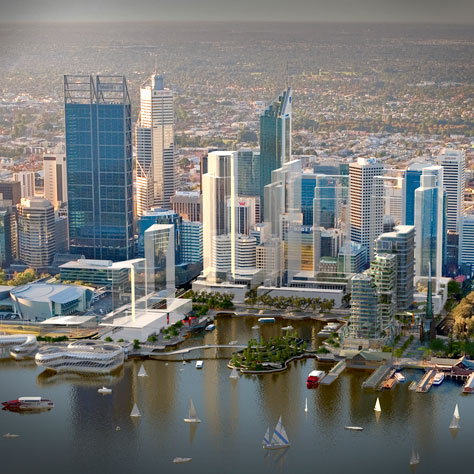 This is the commercial project known as Elizabeth Quay which is being built on The Esplanade Reserve. This is a non-essential government project which the majority of people don't want.