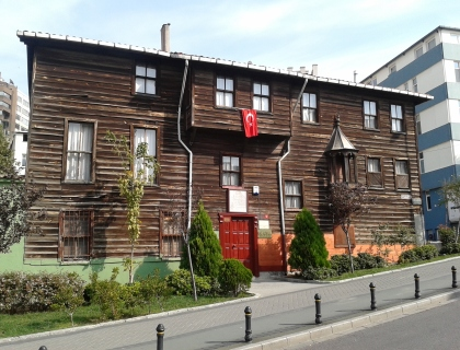 A beautiful wooden traditional house still surviving in a central area of Istanbul.