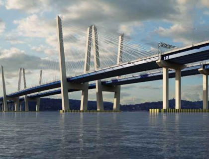 Scaling from small to large in an efficient, cost-effective manner plays a critical role in the design of increasingly large human engineering projects, such as the effort now underway to replace the 16,000-ft. cantilevered Tappan Zee Bridge that spans New York's Hudson River. (Artists rendition of future bridge design, New York State Thruway Authority)
