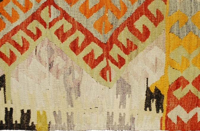 Traditional kilim. Detail.